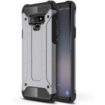 Samsung Galaxy Note 9 Armor Tok Védőtok Ütésálló 2in1 Hybrid Ezüst