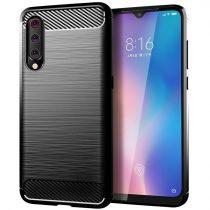 Xiaomi Mi A3 / Xiaomi Mi CC9E Szilikon Tok Karbon Mintázattal Fekete