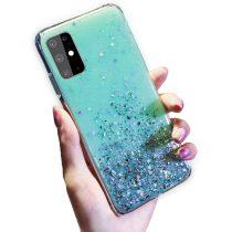 Samsung Galaxy A71 Csillámló Szilikon Tok Glitter Series MTW Style Zöld