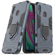Ring Armor Tok Kickstand Tough Rugged Ütésálló Samsung Galaxy A40 blue