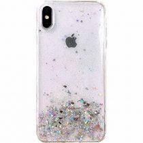 Csillámló Szilikon Tok Glitter Shining Samsung Galaxy A40 Áttetsző