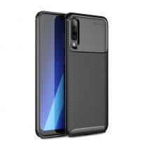 RMPACK Samsung Galaxy A50 A30S Tok Szilikon TPU Carbon Fiber - Karbon Minta Fekete