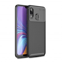 RMPACK Samsung Galaxy A40 Tok Szilikon TPU Carbon Fiber - Karbon Minta Fekete