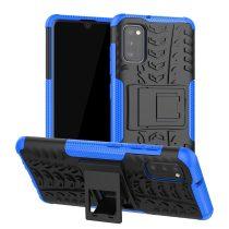 RMPACK Samsung Galaxy A41 Ütésálló Tok Kitámasztható 2in1 Hybrid Kék