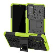 RMPACK Samsung Galaxy A41 Ütésálló Tok Kitámasztható 2in1 Hybrid Zöld