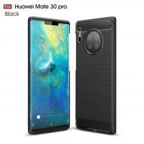 RMPACK Huawei Mate 30 Pro Szilikon Tok Ütésállókivitel Karbon Mintázattal Fekete
