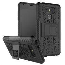 LG G6 Ütésálló Kitámasztható 2in1 Kitámasztható Funkcióval Fekete